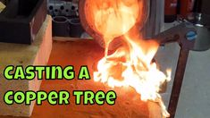 Today I'm casting a tree out of copper. This copper tree is in two parts which join together to make a larger tree. Melting Metal, How To Make Shorts, Metal Casting, Dremel, Metals, Copper, It Cast, Brass
