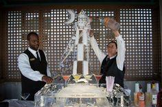 Beautiful vodka luge martini bar at Dana and Jeff's April wedding | The Westin Hilton Head island Resort and Spa