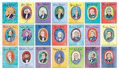 lesson idea... love these illustrations!! American Presidents - 44 Presidential portraits. $99.99, via Etsy.