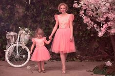 Colecție noua rochii mama fiica www.familyfashion.eu Tulle, Skirts, Fashion, Moda, Fashion Styles, Tutu, Skirt, Fashion Illustrations