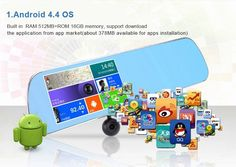 """Rearview Mirror Video Recorder 5.0"""" IPS Touch Screen With Android 4.4 ROM 16GB And Dual Camera - Big Star Trading Store"""