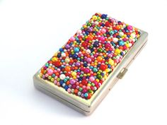 Coloured Pearl Cigarette Box