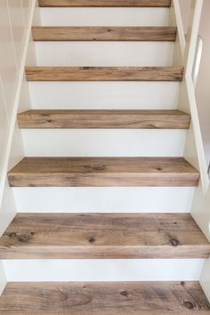 New Ideas For Basement Stairs Diy Staircase Remodel Stairways Casa Petra, Stair Renovation, Basement Stairs, Wood Stairs, Basement Ideas, Wood Stair Treads, Laminate Stairs, Entryway Stairs, Basement Bathroom