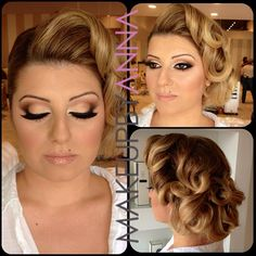 Old Hollywood glamour wedding day makeup Keywords: wedding makeup old hollywood #OldHollywood makeup