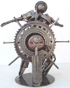 metal sculpture by Yannis Dendrinos 'Seawolf'