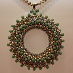 Pretty beaded pendant.