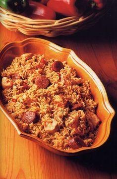 crock pot shrimp, chicken & sausage jambalaya