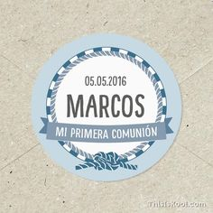 "Adhesivos comunión - ""MARINERO"" | This Is Kool"