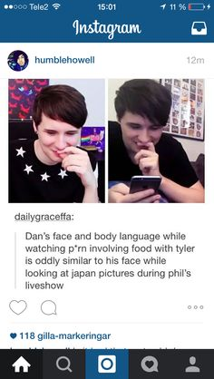 lol phan proof (not rlly but hey i'll take what i can get) Daniel James Howell, Dan Howell, Phan Is Real, Jessie Paege, Japan Picture, Dan And Phill, Phil 3, Danisnotonfire And Amazingphil, Tyler Oakley
