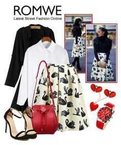 """White ice with Romwe.com^"" by teez-biz-nez ❤ liked on Polyvore featuring Erica Lyons, romwe and crazyforfashion"