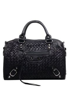 The Route 66 Woven Leather Small Bag Black for only $109