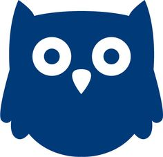Baby Owl with Big Eyes and Pointed Ears vinyl decal sticker