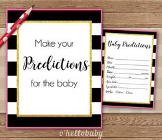 Predictions For The Baby Black White Stripes Pink by ohellobaby