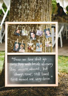 great remember lost ones wedding ideas