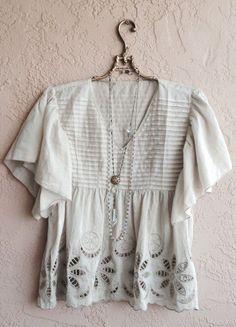 Mocha Cape sleeve crochet summer gypsy top