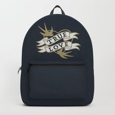 True Love Valentine - Navy Blue & Gold Backpack by denidesigns Gold Backpacks, Backpacks For Sale, Blue Gold, Navy Blue, D Craft, Love Valentines, True Love, One Size Fits All, Fashion Backpack