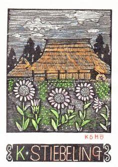 Bookplate by Kohhou Ohuchi (大內香峰)