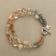 Two strands take their greet-the-day inspiration from a smattering of gemstones including prehnite, carnelian, labradorite, citrine, hessonite and...