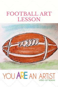 In celebration of your favorite team, enjoy this football video art lesson with Nana! YOU are the artist, so feel free to add the field, the fans, and your favorite team colors. All things fun for football season. And be sure to join Nana in the You ARE an ARTiST Clubhouse for 600+ video art lessons for all ages! #homeschoolart #footballart #youareanartist Football Gif, Football Season, Art Curriculum, Chalk Pastels, Art Tutorials, All Art, Art Lessons, Homeschool, Celebration