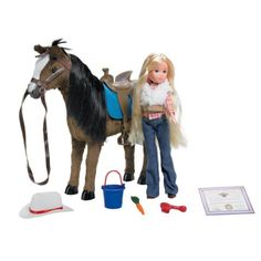 Paradise Horses Country Horse Playset. Includes: Bucket, brush, carrot, certificate of authenticity, and a special key code for use at paradisehorseclub.com to register the horse online 1:6 scale PVC. Clearance $14.99 Tractor Supply Co.