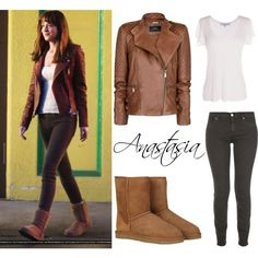 A fashion look from June 2015 featuring MANGO jackets, 7 For All Mankind jeans and UGG Australia ankle booties. Browse and shop related looks.