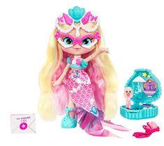 Shopkins Lil Secrets - Collectable Shoppie Doll with Wearable Locket - Pearlina Shoppies Dolls, Shopkins And Shoppies, Rilakkuma, My Little Pony Poster, Shopkins Happy Places, Mermaid Toys, Shopkins Season, Barbie Birthday, Birthday Gifts