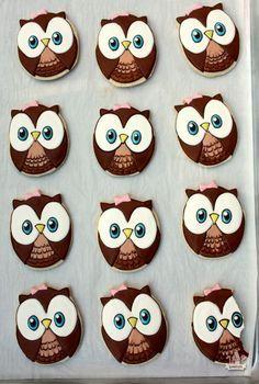 Look Whoo's Turning 1 ~ Owl Cookies