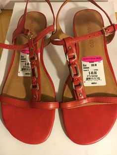 d1d7aab1455857 Franco Sarto Gifted Flats Sandals Coral   Red 9.5 M for sale online