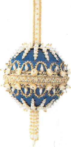 THE CRACKER BOX CORONATION Kit Beaded Sequined CHRISTMAS Ornament GOLDEN OLDIE #TheCrackerBox