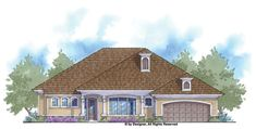 French Country House Plan with 2209 Square Feet and 4 Bedrooms from Dream Home Source | House Plan Code DHSW076304