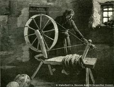 Woman Spinning Wool In Lismore County Waterford 1890
