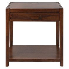 Casual Home Notre Dame 1 Drawer Nightstand with USB Port Warm Brown - 649-24