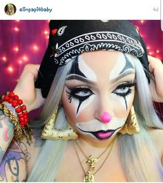 Def going this route this halloween. CHOLA CLOWN. LOL!