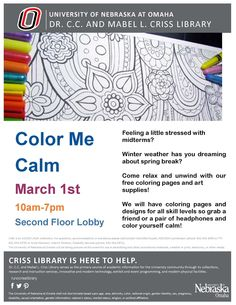 Come and de-stress at the library!