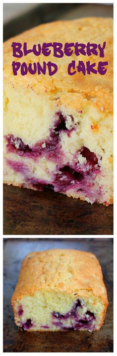 Blueberry Sour Cream Pound Cake - the most perfect pound cake, kicked up with blueberries!