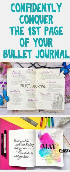 Stop the anxiety over the first page of your bullet journal! It's scary to start, but don't get bullet journal FOMO either! Learn how to tackle your first page fears so you can bujo confidently. Lots of bullet journal tips, ideas, and inspiration that will help you make an epic first page! #bulletjournal #bujo #bujolove #bulletjournalideas