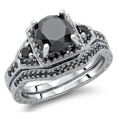 <li>Black diamond bridal set</li>%0A<li>14k white gold jewelry</li>%0A<li><a href='http://www.overstock.com/downloads/pdf/2010_RingSizing.pdf'><span class='links'>Click here for ring sizing guide</span></a></li>