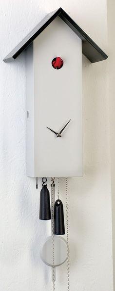 Original Black Forest Clock: Order Cuckoo Clock Modern-Art-Style by Rombach & Haas ( for USD at the Cuckoo-Palace. Diy Clock, Clock Decor, Wall Clocks, Modern Art Styles, Modern Design, Modern Cuckoo Clocks, Tick Tock Clock, Modern Rustic Decor, Workspace Design