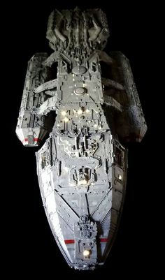 Battlestar Galactica (1978). Original shooting model, by Universal Heartland. Groundbreaking in the sense that it features hundreds of fiber optic strands that help to self illuminate the model.