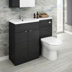 Brooklyn Grey Avola Combination Furniture Pack - Wide, refresh your bathroom with one of our stunning modern bathroom furniture at Victorian Plumbing UK White Bathroom, Small Bathroom, Master Bathroom, Bathroom Ideas, Cloakroom Ideas, Cloakroom Suites, Cloakroom Basin, Bathroom Pictures, Family Bathroom