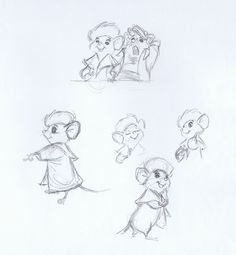 The Rescuers - Milt Kahl || CHARACTER DESIGN REFERENCES