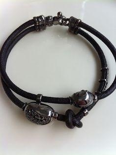 Ivo Misani bracelet my black diamond pepite on black gold