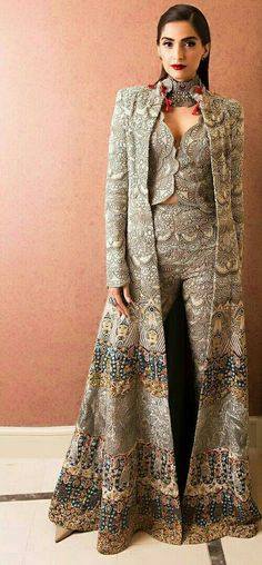 Sonam Kapoor in a beautiful fusioned indo western outfit