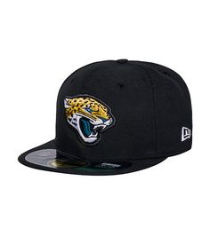 3a1bcb8ed99 NEW ERA Jacksonville Jaguars NFL fitted cap Embroidered team logo on front  NEW ERA stitching on