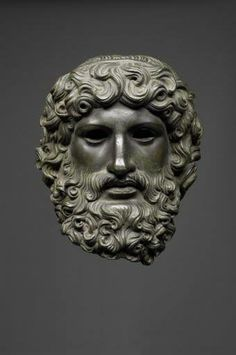 Roman bronze head of Jupiter, 50 CE.