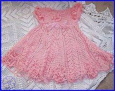 Baby Dress Crochet Diagram Little Girls Ideas Filet Crochet, Beau Crochet, Baby Girl Crochet, Crochet Baby Clothes, Crochet Chart, Crochet For Kids, Knit Crochet, Crochet Diagram, Crochet Designs