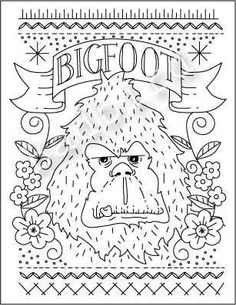 Bigfoot Hand Embroidery Sampler Pattern ($10 - Yikes, need to have someone in mind before buying this one!)