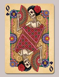 dia de los muertos playing cards - Google Search