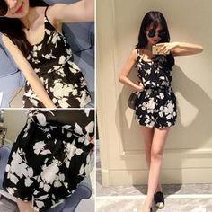 QZ Lady – Set : Floral Chiffon Camisole   Shorts