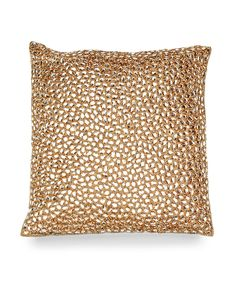 Jewel in Gold Pillow - For those who love things that shimmer and shine, the Jewel in Gold Pillow was made with you in mind. Ultra luxe and completely elegant, this decorative accent is ideal for drawing the eye to a focal point in your favorite space, whether that is a gorgeous sofa or window seat. This pillow is a definite head turner that captures the imagination and nicely adapts to many decor styles. Each Aviva Stanoff piece is specially crafted for you upon ordering and takes 8-10…
